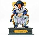 XINRUIBO Une pièce Amiral Roi Chaise Assise Anime Action Chiffres Modèle Collection Vinyle Personnage PVC Figure Chiffre Jouets Enfants Adultes et Fans d'anime A-20cm-20cm_Un