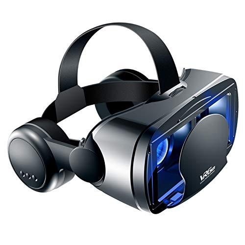 Haoyue VR-Brille mit 3D-Helm und virtueller Realität für 5 bis 7-Zoll-Smartphones 3D-Brille unterstützt 0-800 Myopia VR-Headset für Mobiltelefone