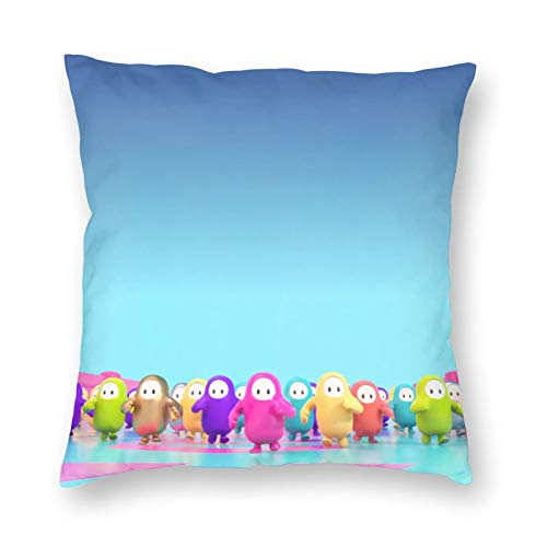 DFSHDYD Sports Fall Guys Throw Pillow Cover Rectangular Decorative Double Side Design for Family Indoor Sofa and Car and Bed