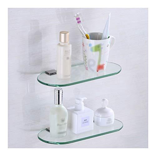 Douchecaddies Shelf Plank van het Glas Opslag wissen displaymuren Badkamer Kamer Rekken Stellingen Modern Huis 2 Lagen YB D-30 (Size : 60cm)