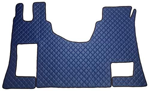 Unbekannt Fußmatten und Motorabdeckung Truck LKW Zubehör für Actros MP4 Megaspace Umweltfreundlichem Kunstleder Blau