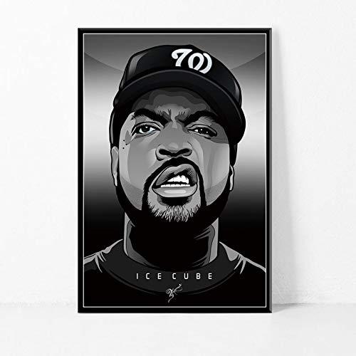 Leinwand drucken Poster und drucken Rap Musik Star Wandkunst Dekoration Bild Home Decoration,Rahmenlose Malerei-60X90cm