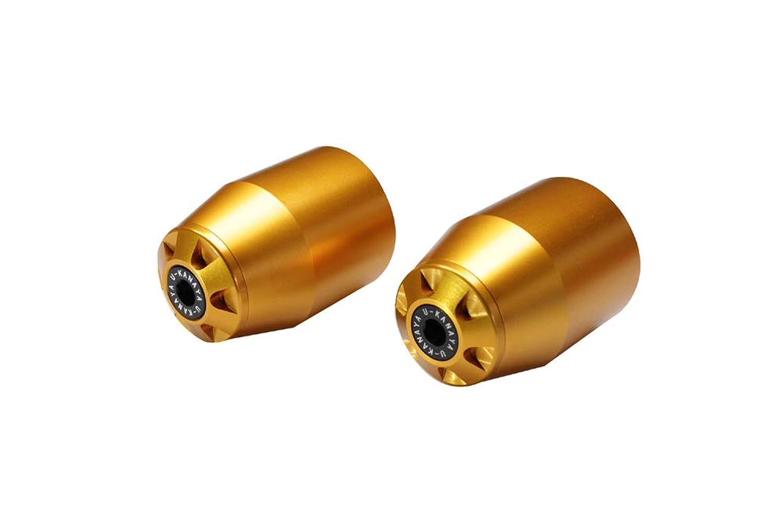 U-KANAYA アルミバーエンド ロングタイプ 本体:ゴールド×エンドキャップ:ゴールド ホンダ CBR250R CBR250RR CBR400R CB400SF CBR600RR CBR1000RR CB1300SF