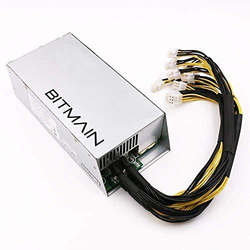C8P AntMiner Bitmain Fuente De Alimentación APW7 PSU 1800W Mucho Mejor Que APW3 ++ para S9 o L3 + o T9 o D3 con 10 Conectores