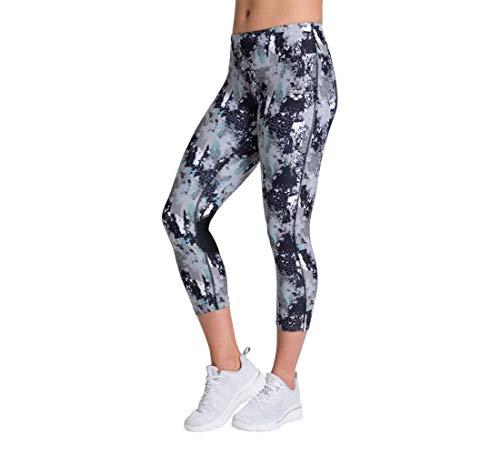 ARENA Damen Sport 3/4 Hose Gym Leotardos, Mujer, Planeta de píxel, Medium