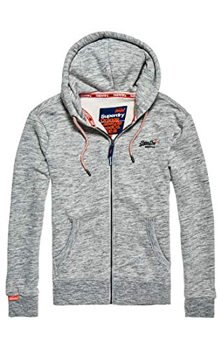 Superdry Herren Orange Label Classic Zip Hood Kapuzenpullover, Grau (Ash Grey Heather C5d), Small