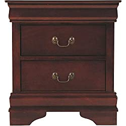 Ashley Furniture Signature Design - Alisdair Nightstand - 2 Drawers - Traditional - Rectangular - Dark Brown