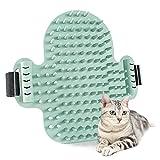 Cepillo de Esquina Masaje Para Gatos Caucho, Cepillo de Masaje Para Gato con Juguete Depilación Grooming, Cepillo Gato Esquina Para la Autolimpieza de Perros Gatos
