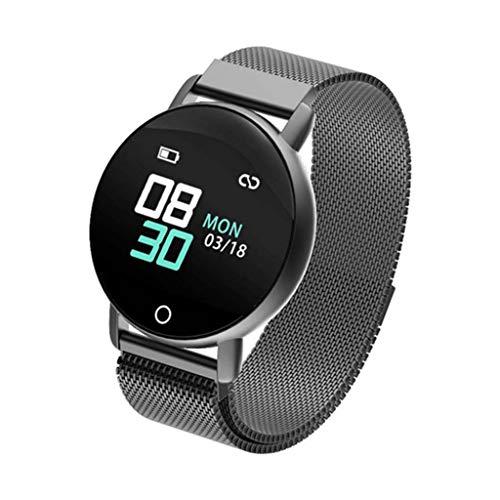 FANZIFAN Fitness Tracker R1 Smart Band EKG PPG Fitness Armband Smart Armband Mit Herzfrequenz Blutdruck Multifunktions Fitness Tracker Uhr, Schwarz