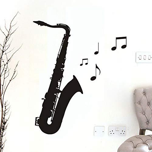 Vinyl afneembare notities zwart Saxofoon muurtattoo wooncultuur studio woonkamer moderne stijl design kunst