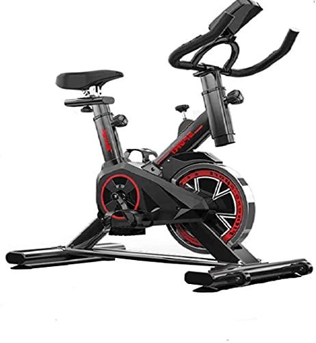 Indoor Ciclismo Bicicleta Ejercicio Ejercicio Spin Bike Estacionario con Resistencia de Cuero Asientos Ajustables y Estabilidad Aerobic Ciclo de Entrenamiento y Bicicleta para Cardio Home Formning