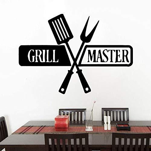 Beauty grill master pegatina de pared extraíble pegatinas de pared papel tapiz Diy decoración de habitación de guardería pegatina de pared para cocina A8 43x61cm