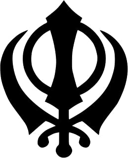 Sikh Khanda Vinyl Decal Sticker Bumper Car Truck Window- 6