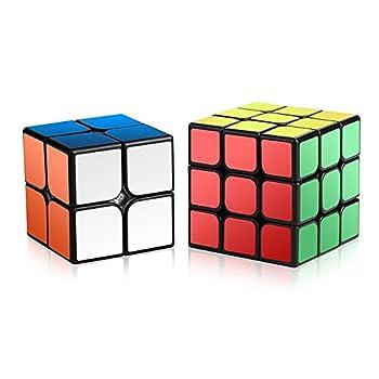 Speed Cube Set ROXENDA Magic Cube Set of 2x2x2 3x3x3 Cube Smooth Puzzle Cube