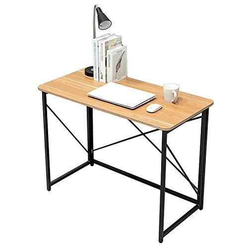 Shelf Escritorios Escritorio para computadora, Escritorio Moderno y Resistente de 39.4', Mesa Plegable Que Ahorra Espacio Escritorio Simple para Oficina en casa, no Requiere ensamblaje