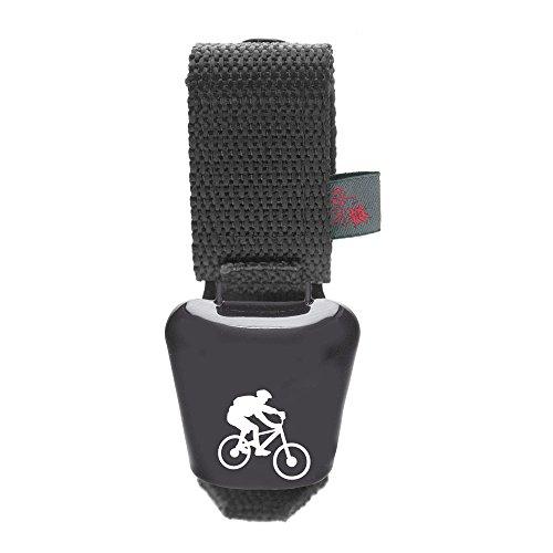 ebos Alpenhupe, Biker – Kuhglocke als Fahrradklingel ✓ Einhändige Bedienung ✓ Für alle Fahrräder/Lenker geeignet | Große Fahrrad-Glocke | Witterungsbeständige Fahrradschelle als Accessoire | anthrazit