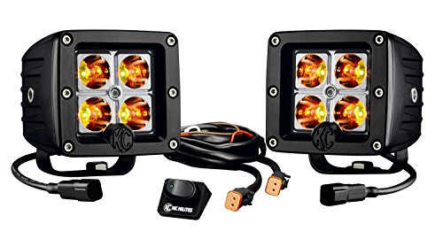 "KC HiLiTES 315 C-Series Amber 3"" C3 LED Pack System, Pair"