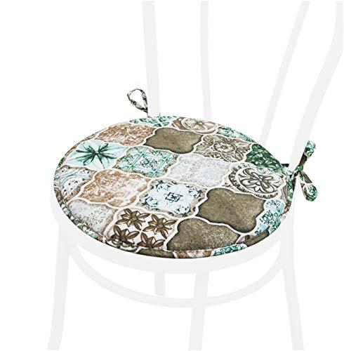 DALIA58 - Cojín redondo para silla de comedor