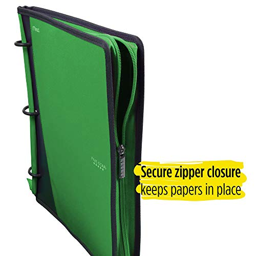 Five Star Flex Hybrid NoteBinder, 1 Inch Ring Binder, Notebook and Binder All-in-One, Electric Green (73416) Photo #2