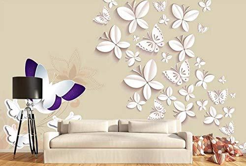 MUNXIN Wallpaper Papel Pintado 3D Origami Mariposa Simple Papel Pintado Pared Moderno Dormitorio Fotomurales Decorativos Pared