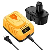 DC9096 Replacement 18V XRP Battery DC9096 DC9099 DC9098 DW9099 DW9098 18Volt Batteries + DC9310 Charger for 7.2-18V Ni-Cad Ni-Mh 18V Battery Charger