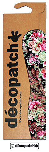 Decopatch Papier No. 590 (Oriental braun pink Rosen, 395 x 298 mm) 3er Pack