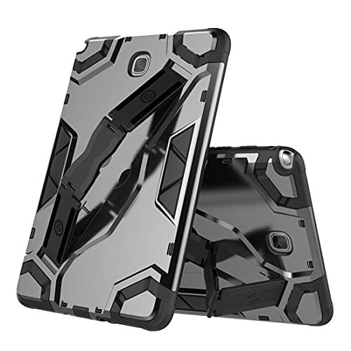 ZHIWEI Tablet PC Bag Custodia per Tablet per Samsung Galaxy Tab A (T350), Copertura Protettiva Multifunzione Multifunzione TPU + PC con Impugnatura Pieghevole Kackstand (Color : Black)