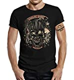 Gasoline Bandit Rockabilly Biker Rocker Greaser - Camiseta Negro XL