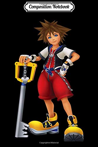 Composition Notebook: Disney Kingdom Hearts Sora Key Blade  Journal/Notebook Blank Lined Ruled 6x9 100 Pages