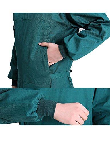 Nanxson Unisex Herren Frauen Operationskittel Lab Medizin Uniform Arbeitskleidung ME0002 (Grün, S) - 4