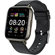 """Smart Watch, 1.69"""" Touch Screen Smartwatch, Fitness Watch with Heart Rate Sleep Monitor, IP67 Waterproof Activity Trackers with 24 Sport Modes Watch Pedometer Stopwatch, Fitness Trackers for Men Women"""