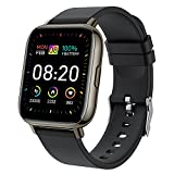 Smartwatch, 1.69' Reloj Inteligente Hombre Mujer 24 Modos Deportivo Reloj Pulsera Actividad Inteligente con Pulsómetro Monitor de Sueño Monitores Calorías Podómetro Impermeable IP67 para Android e iOS