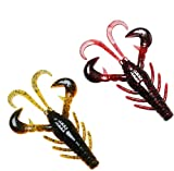 TRUSCEND Fishing Lures for Bass Trout Swimbaits Soft Fishing Baits Freshwater Saltwater Jigging Bass Fishing Lures