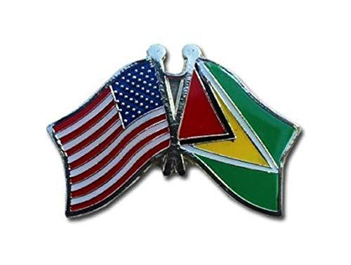 Anstecknadel aus Metall mit Flagge von Guyana/USA, 2,5 cm