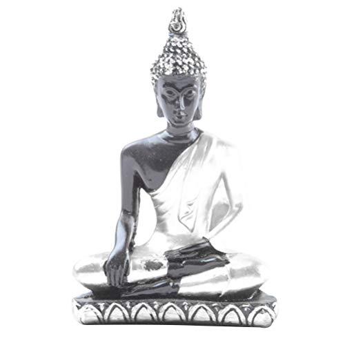 VOSAREA Buddha Figur Harz Meditierende Buddha Statue Dekorative Tisch Buddha Kunst Desktop Buddhismus Figur Handwerk für Das Büro zu Hause Schlafzimmer