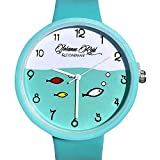 Analog Watches - Wrist Watches for Kids : Boys Watch & Girls Watch with Silicone Watch Strap. This Childrens Watches Comes in 5 Colors. 200mm Diameter Teal/Green