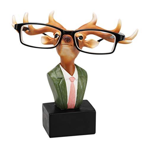 Boodtag Brillenhalter Brillenablage Giraffe Zebra Hippo Schafe Rentier Hirsch Lippe Bart Tisch Dekoration Weihanchten...