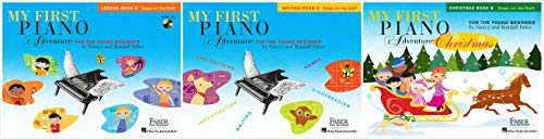 My First Piano Adventure® Book B Set (3 Books) - Lesson Book B, Writing Book B, Christmas Book B