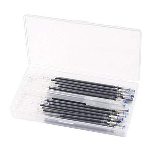 FITYLE 4 Colores de Tela borrable de Calor bolígrafos de Recarga 40 Piezas bolígrafos de Calor reemplazables recargas de Pluma con Caja de Almacenamiento - Negro