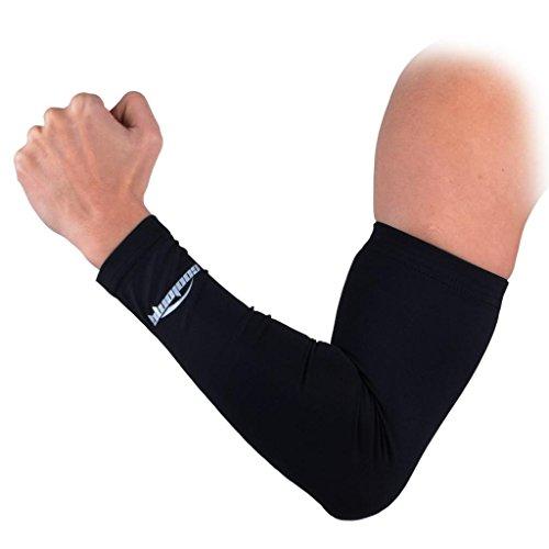COOLOMG Arm Sleeves Armwärmer Kompression Armlinge rutschfest Anti UV Running Radfahren für Damen Herren 1 STK. XXS XS S M L XL