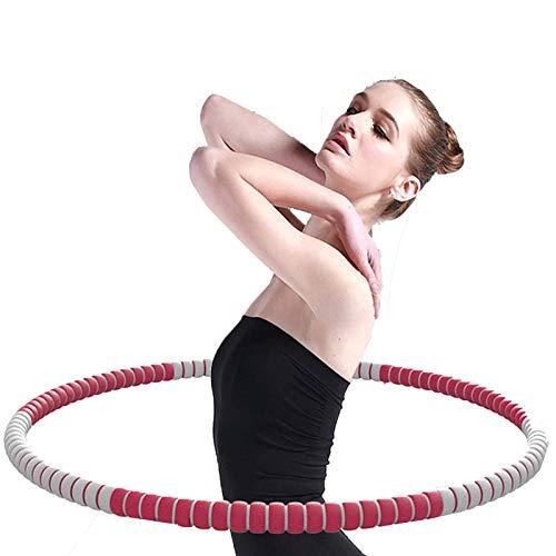 LTLWL Hula Hoop Fitness Desmontable De 6 Secciones Aro De Fitness Espuma, Hula Hoop Desmontable, Peso Ajustable para Niños, Principiantes Y Profesionales