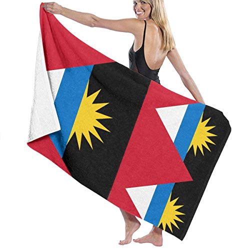 Ewtretr Antigua und Barbuda Nationalflagge Mikrofaser Strandtücher Quick Dry Super saugfähigen Baden Spa Pool Handtücher für Schwimmen & Outdoor, 31 'x 51'