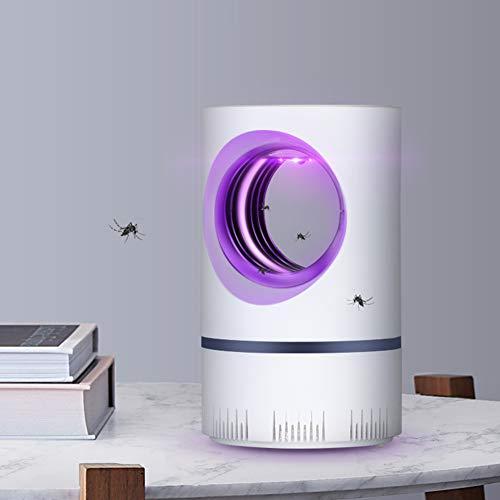 Trampa eléctrica para mosquitos, lámpara LED Mute Mosquito Killer Lámpara, Lámpara de Mosquito de Alimentación USB, Luz de Fotocatálisis, No tóxica, No Zapper Pequeño Ventilador de succión