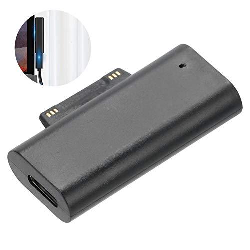 Eosnow Adaptador de Tableta PC, Accesorios de computadora duraderos magnéticos portátiles ABS 15V para Microsoft Book 1/2/3 para Microsoft Pro3 / 4/5/6/7 / Go