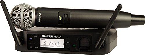 Shure–GLXD24E SM58Microfono inalambrico digitale di mano