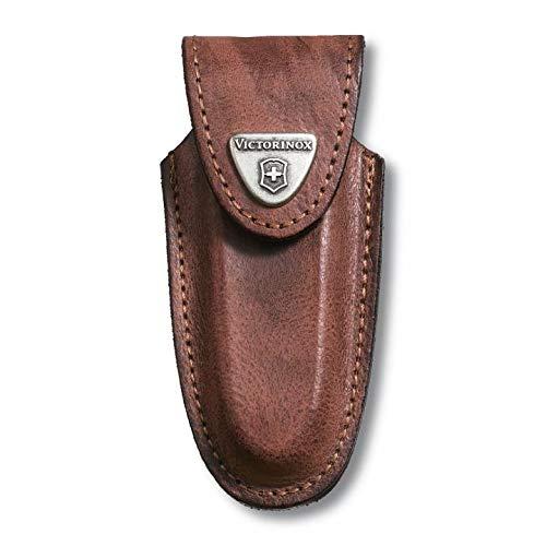 Victorinox 40533 Zubehör Lederetui Klett-Verschluss geblockt Mantel, braun, One Size