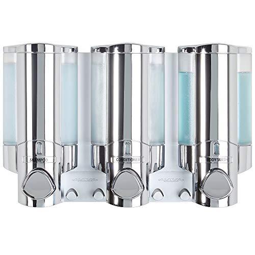 Better Living Products 76345 AVIVA Three Chamber Dispenser, Chrome