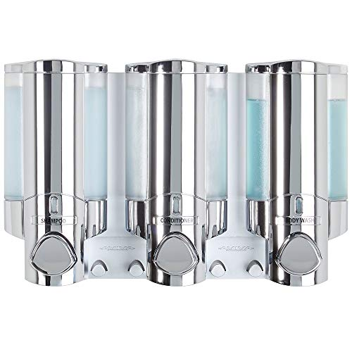 Better Living Products 76345 AVIVA Three Chamber Dispenser, Chrome