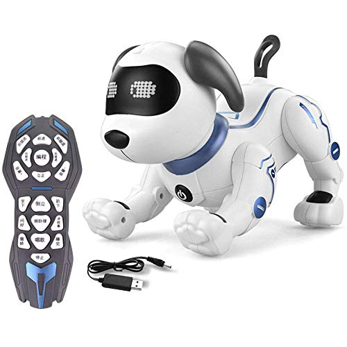 MJY Outdoor Educational Toys?Electronic Pet, Robot Dog Toy, Have Follow-Up Function, Sing and Dance Electronic Robot Dog Pet Toy Smart Kids Interactive Walking Sound Puppy with Led Light Educational