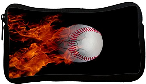 Rikki Knight Baseball on Fire Design Neoprene Pencil Case (pc1074)
